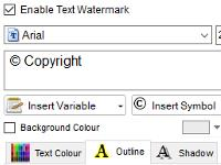Customizable watermarks